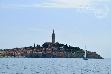 Blick auf die romantische Altstadt von Rovinj
